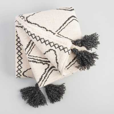 Geometric Print Sherpa Throw Blanket by World Market - World Market/Cost Plus