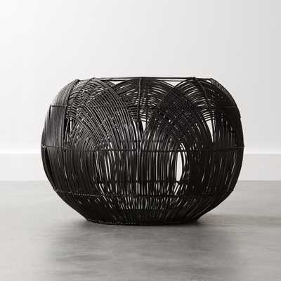 Archer Black Rattan Basket - CB2