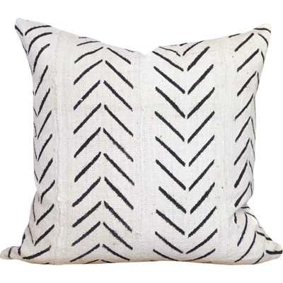 Chevron Arrow Print African Mud Cloth Pillow Cover - Birch Lane