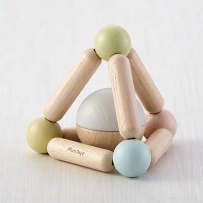 Plan Toys Pastel Triangle Clutching Toy - Crate and Barrel