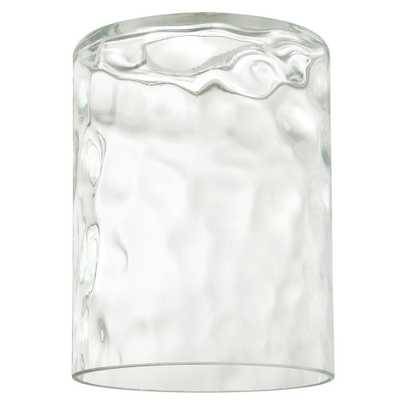 Westinghouse 5-1/4 in. Clear Hammered Cylinder Shade with 2-1/4 in. Fitter and 4 in. Width - Home Depot
