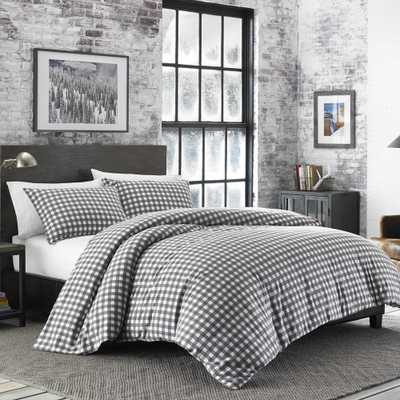 Preston 3-Piece Grey King Duvet Cover Set - Home Depot