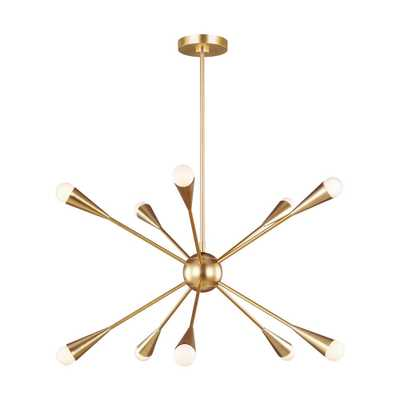 Generation Lighting Designer Collections Jax 27.25 in. W 10-Light Burnished Brass Chandelier - Home Depot