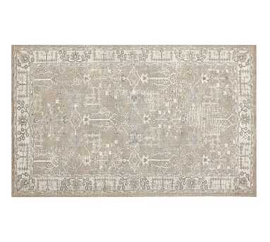 Reeva Printed Rug, 5x8, Neutral Multi - Pottery Barn