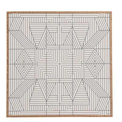 Line Mandala' Framed Graphic Art - Picture Frame Graphic Art Print on Wood - AllModern