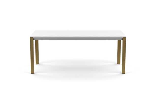 Hayes Dining with White Table Top and Matte Brass legs - Interior Define