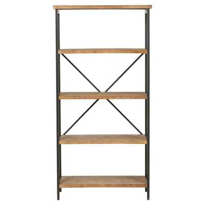 Perth 68.5 5-Shelf Industrial Bookcase Antique - Christopher Knight Home, Antique Wood - Target