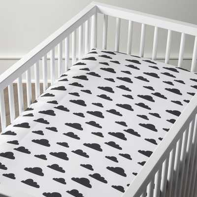 Organic Cloud Crib Fitted Sheet - Crate and Barrel