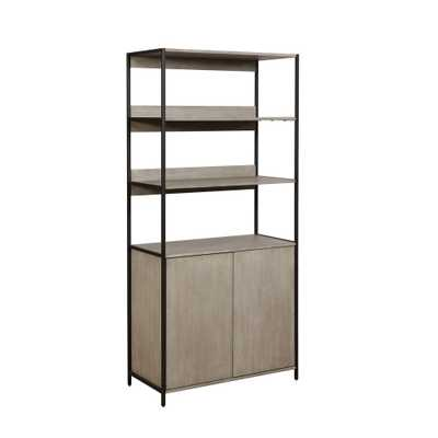 Aberdeen 2 Door Wood Shelf Sand Gray - miBasics - Target