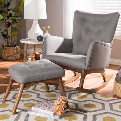 Centreville Rocking Chair with Ottoman - AllModern