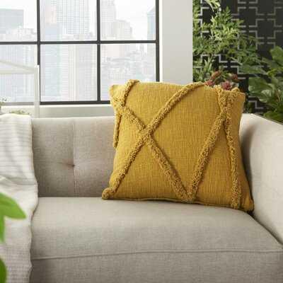 Remi Textured Striped Cotton Throw Pillow - Wayfair
