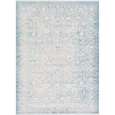 New Classical Olympia Blue 9' 0 x 12' 0 Area Rug - Home Depot