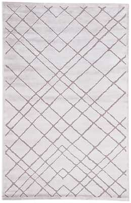 Caldwell Geometric White/ Gray Area Rug (9' X 12') - Collective Weavers