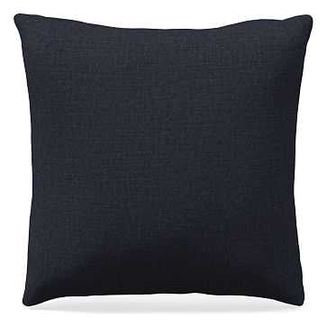 "18""x 18"" Pillow, Performance Yarn Dyed Linen Weave, Indigo - West Elm"