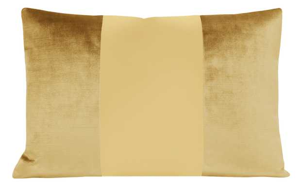 "The Little Lumbar :: MONOCHROMATIC Faux Silk Velvet // Gold - 12"" X 18"" - Little Design Company"