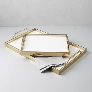 "Enamel Cafe Large Rectangle Tray, 18""X28"" - West Elm"