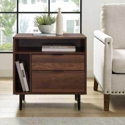 Pillar End Table with Storage - Wayfair