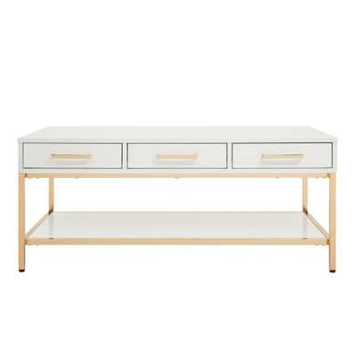 Alios White/Gold Chrome Cocktail Table - Home Depot