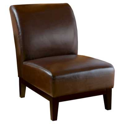 Darcy Slipper Chair Brown - Christopher Knight Home - Target
