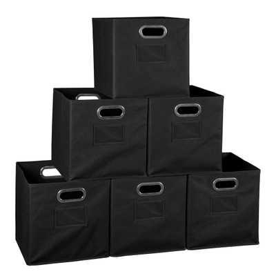 Regency Cheer 12 in. D x 12 in. W x 12 in. H Black Folding Fabric Bin Closet System (6-Pack) - Home Depot