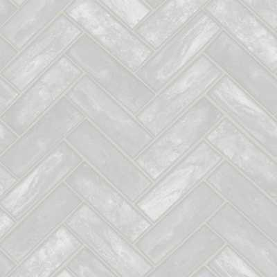 Lustro Grey Removable Wallpaper, Gray - Home Depot