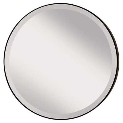 Feiss Johnson Circle Oil Rubbed Bronze Wall Mirror - Home Depot