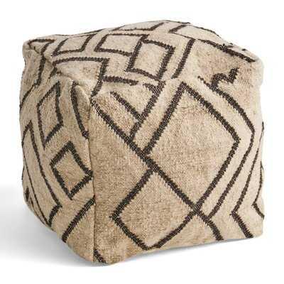 Juri Boho Wool and Cotton Ottoman Pouf - Wayfair