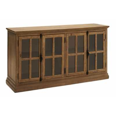 RST Brands Loupin Brown Solid Wood Console - Home Depot