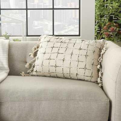 Gravitt Geometric Cotton Lumbar Pillow - Wayfair