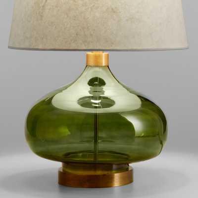 Green Glass Teardrop Halsey Table Lamp Base by World Market - World Market/Cost Plus