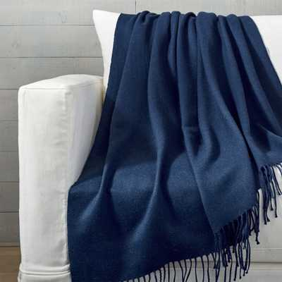 Gresham Blue Throw - Crate and Barrel