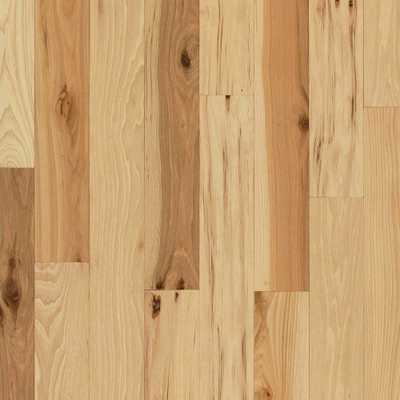 Take Home Sample - Hickory Rustic Natural Solid Hardwood Flooring - 5 in. x 7 in., Wood Grain - Home Depot