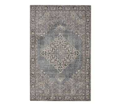 Mikaela Printed Rug, 9x12', Gray Multi - Pottery Barn
