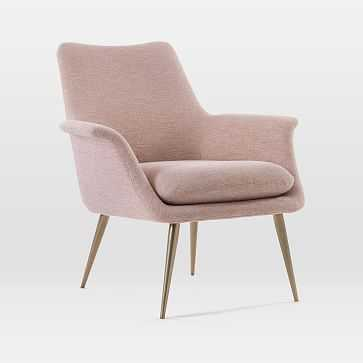 Finley Lounge Chair, Rosette, Chenille Tweed, Burnished Bronze - West Elm