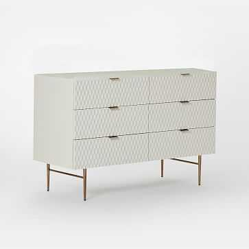Audrey 6-Drawer Dresser, Parchment - West Elm