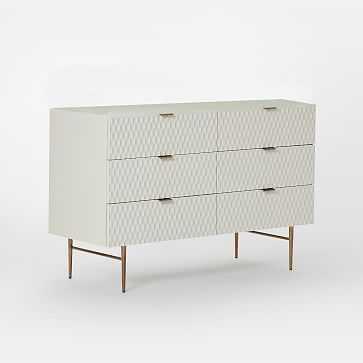 Audrey 6-Drawer Dresser, Parchment - West Elm
