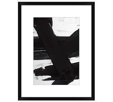 "Jagged Maze Framed Print 2, 14 x 18"" - Pottery Barn"
