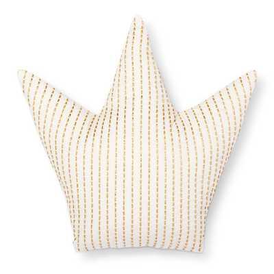 "Crown Throw Pillow (15""x15"") Gold & White - Pillowfort - Target"
