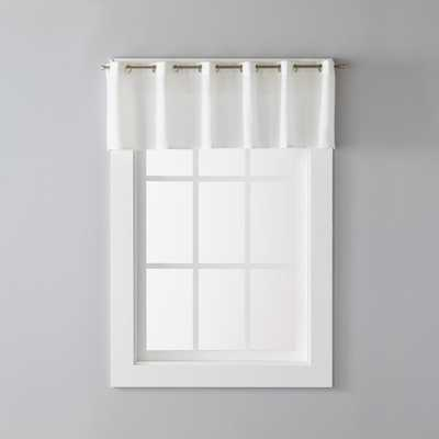 SKL Home Trio 13 in. Polyester Valance in White - Home Depot