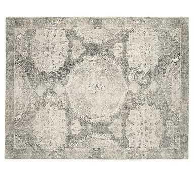 Barret Printed Rug, 8x10', Gray - Pottery Barn