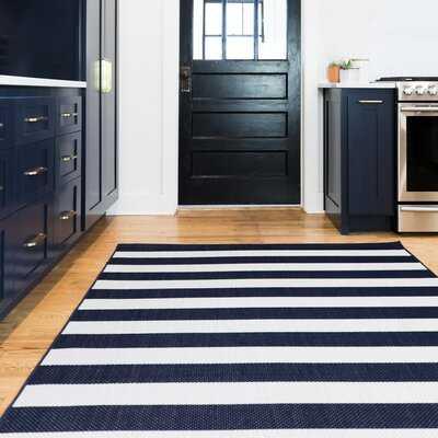 Mcrae Navy Blue Striped Indoor/Outdoor Area Rug - Wayfair