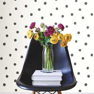 28.18 sq. ft. Black Dots Peel and Stick Wallpaper - Home Depot