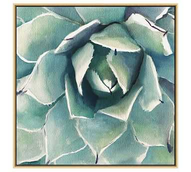"Garden Succulent Canvas, 28 x 28"" - Pottery Barn"