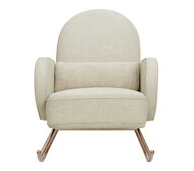 Nursery Works Compass Rocker, Oatmeal, Unlimited Flat Rate Delivery - Pottery Barn Kids