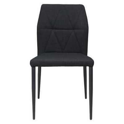 Revolution Black Dining Chair (Set of 2) - Home Depot