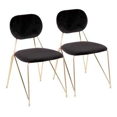 Danton Upholstered Dining Chair (Set of 2) - Wayfair