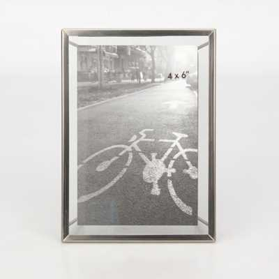 """4""""x6"""" Floating Frame with Symmetrical Wire Back Brushed Nickel - Project 62 - Target"""