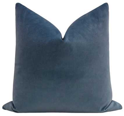 "Society Velvet // Capri Blue - Pillow Cover / 20"" X 20"" - Little Design Company"