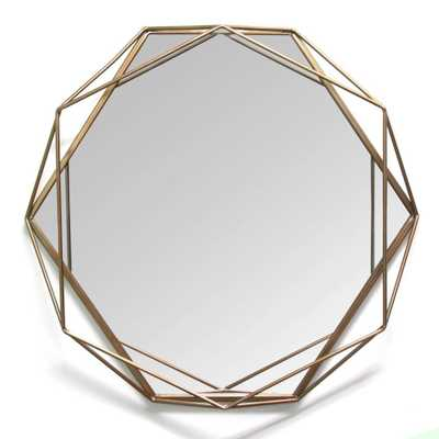 "HomeRoots ""Metal Layered Mirror in Elegant Gold""Wall Art - Home Depot"