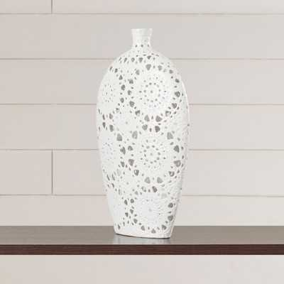 Tillotson Floral Pierced Floor Vase - Birch Lane